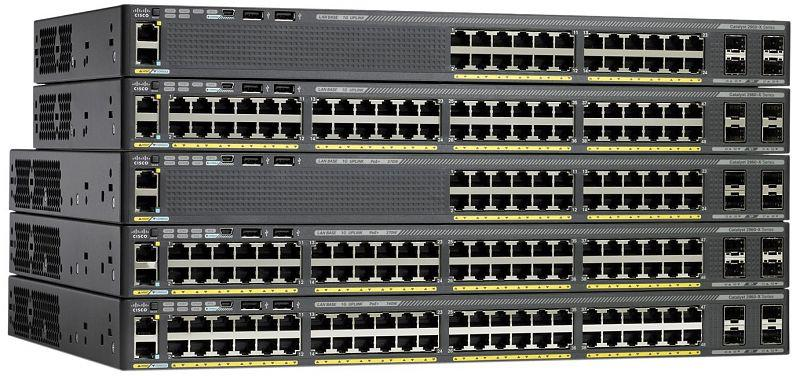Коммутатор Cisco Catalyst, 24 x GE, 2 x SFP+, IP Lite WS-C2960XR-24TD-I