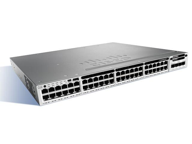 Коммутатор Cisco Catalyst, 48 x GE (PoE+), LAN Base WS-C3850R-48P-L