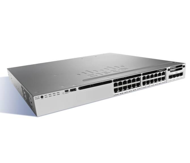 Коммутатор Cisco Catalyst, 24 x GE (UPOE), IP Services WS-C3850-24U-E