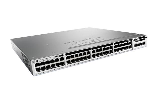 Коммутатор Cisco Catalyst, 48 x GE (PoE), 5 AP, IP Base WS-C3850-48W-S
