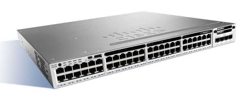 Коммутатор Cisco Catalyst, 48 x GE (PoE+), LAN Base WS-C3850-48P-L