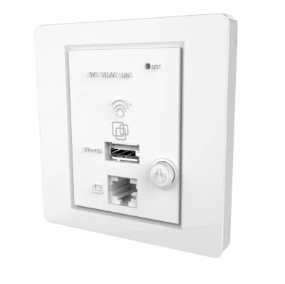 Точка доступа SNR-CPE, wall-in, 2,4ГГц 2T2R, PoE 802.3af, чип MT7620N