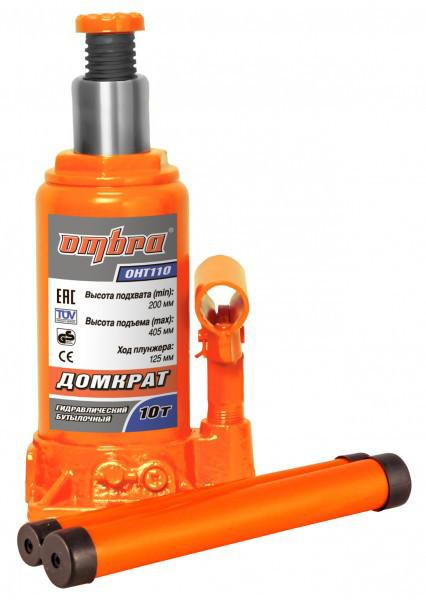 Домкрат гидравлический профессиональный 10 т., 200-405 мм (OHT110)