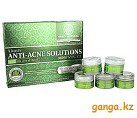 "Набор для лица ""Анти-Акне"" (Anti-Acne Solutions Mini Facial Kit with Tea Tree & Basil KHADI), 5 шт * 15 г."