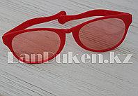 Большие карнавальные очки (красные с синими стеклами) оранжевый