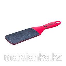 AE 10/2 Терка для педикюра пластиковая Staleks 80/120 (розовая)