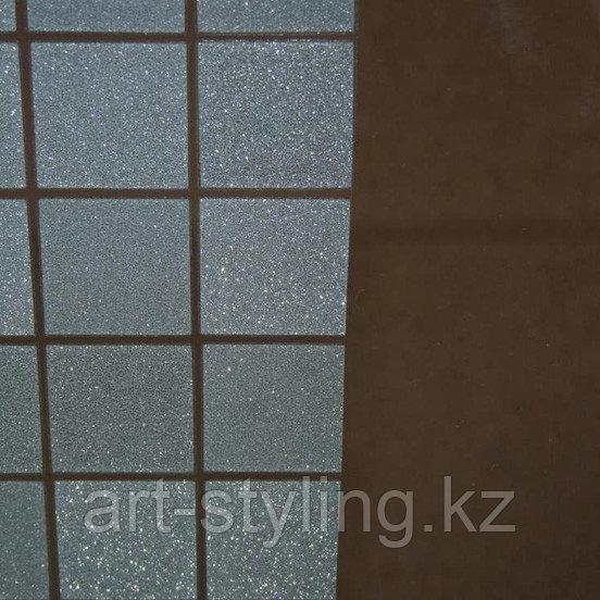 Декоративная пленка Sparks white squares (белые матовые квадраты с эффектом морозных искр)