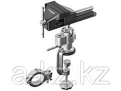 Тиски поворотные слесарные ЗУБР 32487-75, МАСТЕР, шарнирно-поворотные, для точных работ, с зажимом для дрели, 75 мм