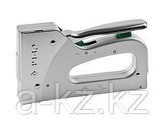 Степлер мебельный строительный ЗУБР 4-31573, ЭКСПЕРТ, металлический пружинный, регулируемый, тип 140: 6-14 мм, тип 300: 16 мм, 2-в-1