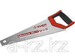 Ножовка по дереву ЗУБР 15077-40, МОЛНИЯ-3D, 400 мм, 7 TPI, 3D зуб, точный рез вдоль и поперек волокон, для средних заготовок из всех видов материалов