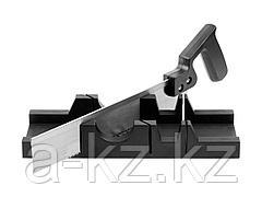 Стусло набор DEXX 1538-30, пластмассовое, пила для стусла, для заготовок до 65 х 35 мм, ножовка 300 мм