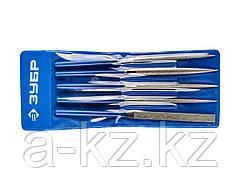 Надфиль алмазный набор ЗУБР 33386-160-H5, ЭКСПЕРТ, с алмазным напылением в пакете PVC, P 140, 160х80 мм, 5 предметов