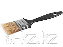 Кисть плоская малярная СИБИН 01008-038, пластиковая ручка, светлая щетина, 38 мм