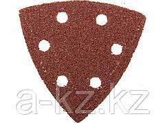 Треугольник шлифовальный ЗУБР 35583-040, МАСТЕР, универсальный на велкро основе, 6 отверстий, Р40, 93 х 93х 93мм, 5  шт