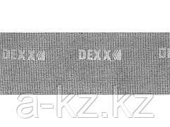 Шлифовальная сетка DEXX 35550-060_z01, абразивная, водостойкая Р 60, 105 х 280 мм, 3 листа