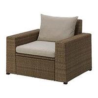 СОЛЛЕРОН Садовое кресло, коричневый, Холло бежевый ИКЕА, IKEA Казахстан , фото 1