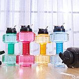 Бутылка для фитнеса форма гантель, фото 3