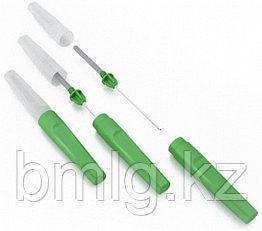 Игла двусторонняя к вакуумным пробиркам 21G, 0.8х38мм, зеленая