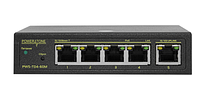 PoE коммутатор Web Smart PWS-T04-60M, 4x10/100BASE-TX PoE 802.3af&at + 1x10/100BASE-TX, внешний БП 60Вт