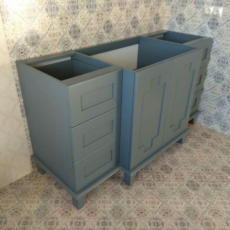 Шкаф для ванной комнаты МДФ крашенный