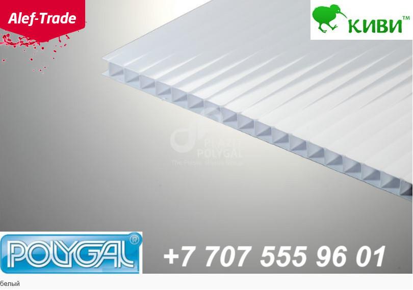 POLYGAL серии КИВИ, 6 мм (2,1х6 метров) Поликарбонат сотовый poligal