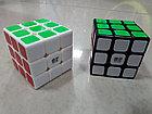 Кубик Рубика 3 на 3 Qiyi Cube в черном пластике, фото 5