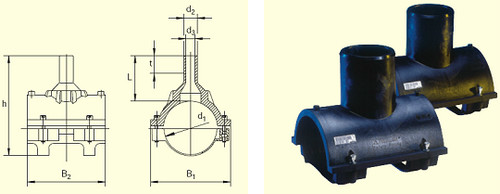 Электросварные фитигни SA-XL d355/250 SDR11