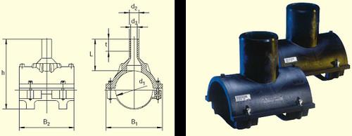 Электросварные фитинги SA-XL d500/250 SDR11, фото 2