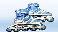 Роликовые коньки (раздвижные) голубые