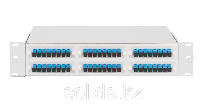 Оптический кросс 2U укомплектованный на 48 портов SC/UPC