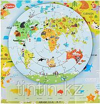Деревянные Пазлы - Карта мира (36 деталей), фото 3