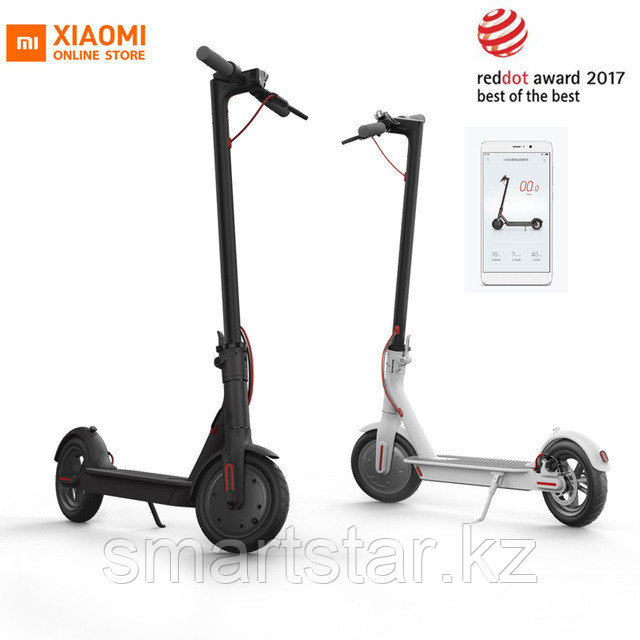 "Электросамокат Xiaomi MiJia Electric Scooter M365 ОРИГИНАЛ! - ""Smartstar""  в Алматы"