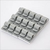 Набор пластиковых креплений для проводов (серый 15шт).