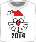 Футболка unisex с принтом «Дед мороз в очках»