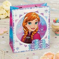 """Пакет подарочный вертикальный """"Для самой красивой!"""", Холодное сердце, 31 х 40 х 11 см"""