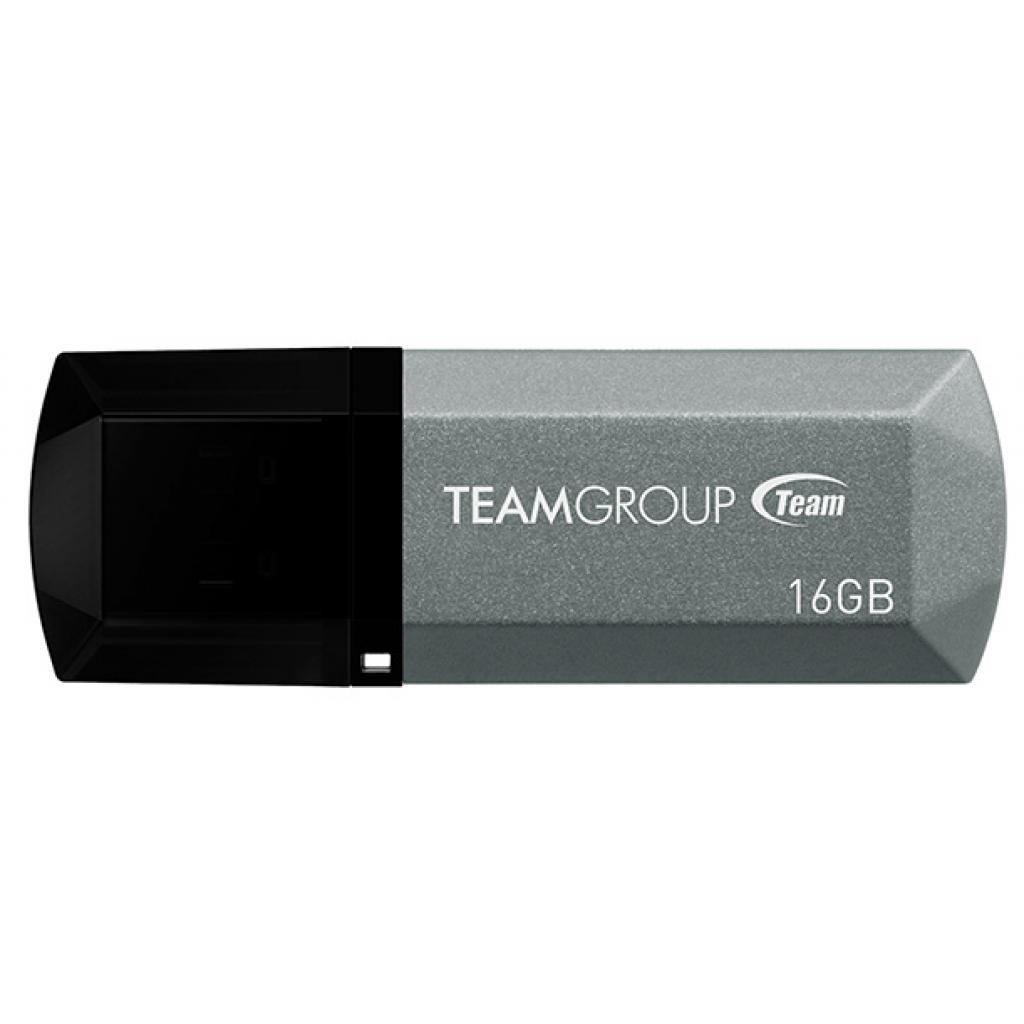 Team Group USB 2.0 Flash C153 FLASH DRIVE 16GB TC15316GS01 SILVER
