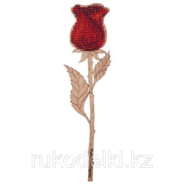 """Набор для вышивания бисером по дереву """"Роза"""""""