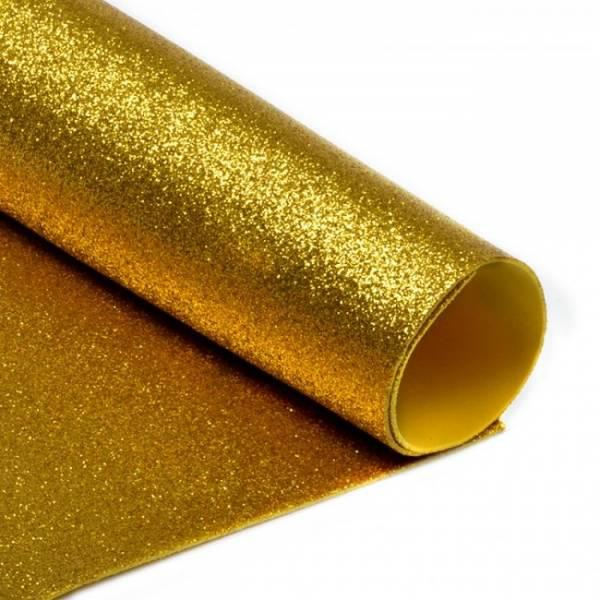 Фоамиран глиттерный, Золото темное, формат А3 10 шт , Алматы