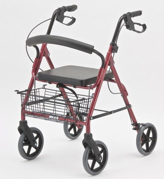 Ходунки ортопедические регулируемые по высоте с сиденьем и корзинкой