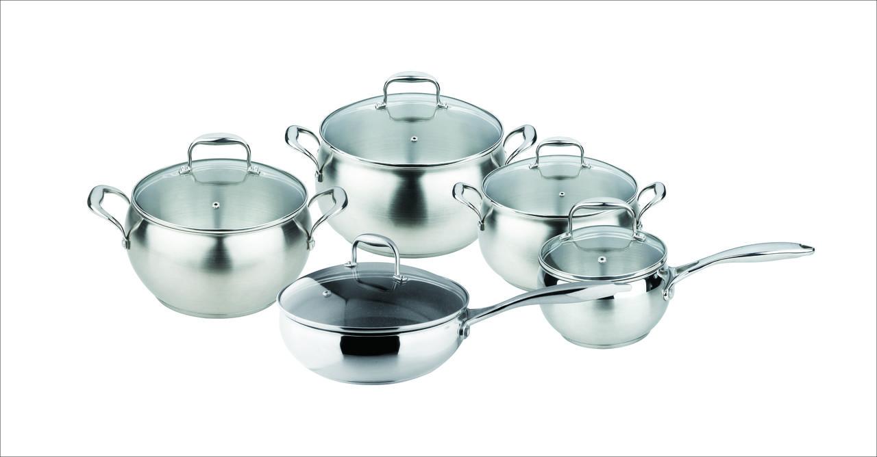 Набор посуды granhel Stainless steel 10 предметов