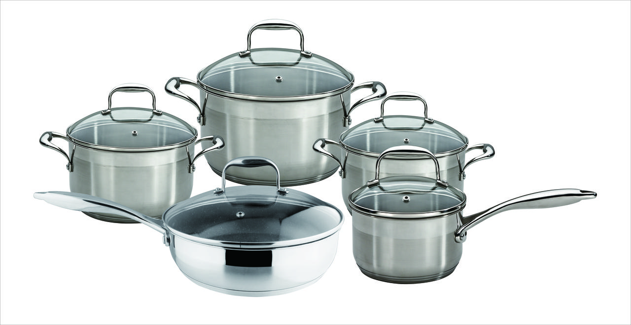 Набор кастрюль Nice Cooker granhel  10PCS steel 18/10