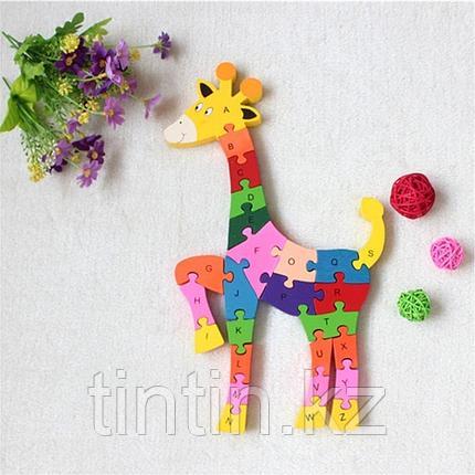 Деревянный пазл - Жирафик, фото 2