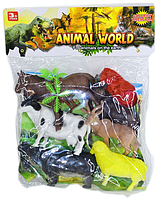 661-8 Животный разные Animal World 6шт в пакете 30*24см