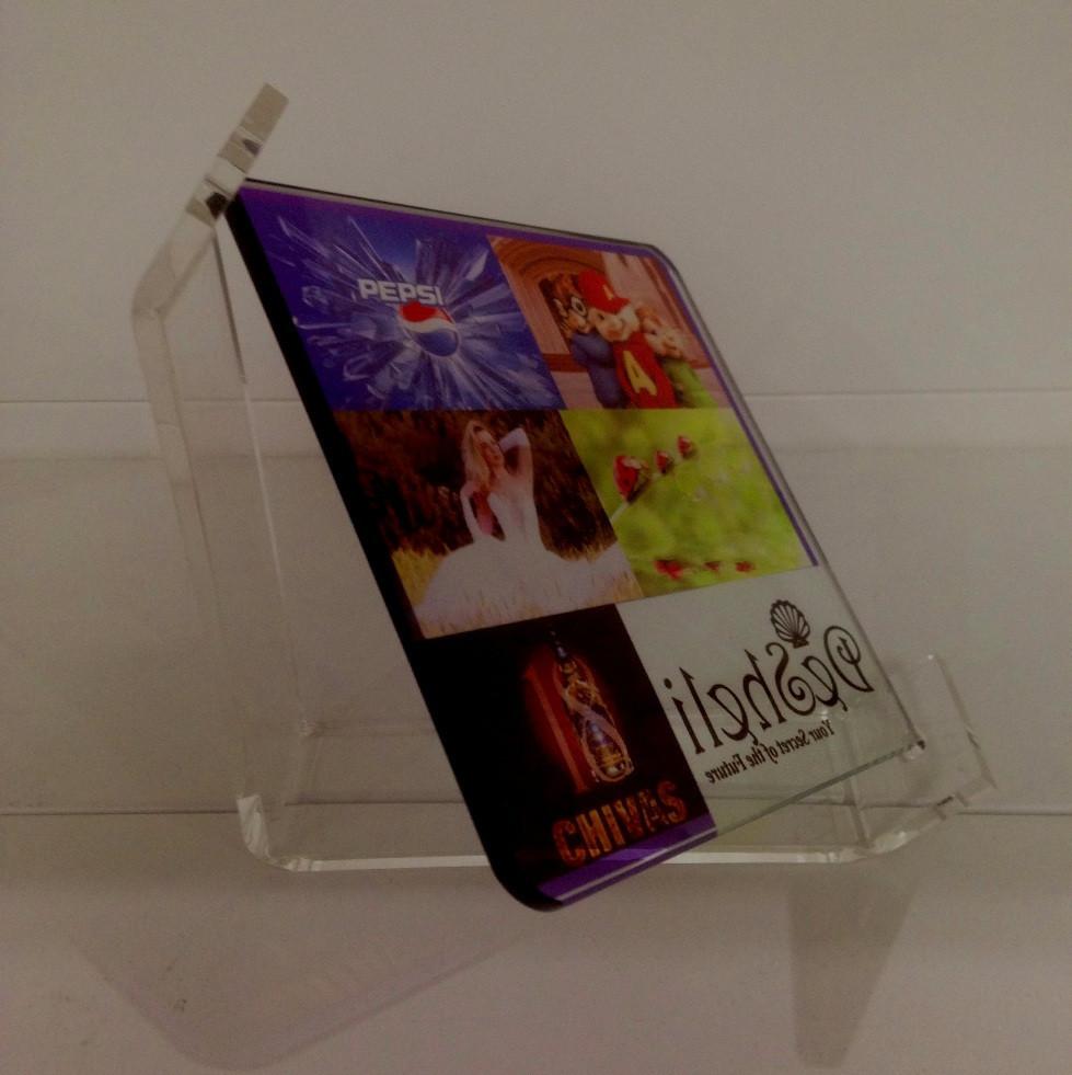 Стеклянная рамка для сублимации 17 см (acrylic frame) прозрачная