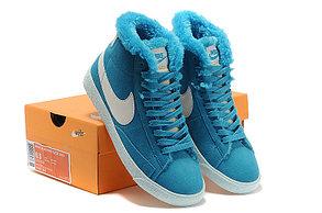 Зимние женские кроссовки Nike Air Max синие, фото 3