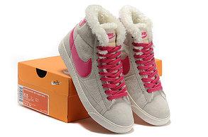 женские кроссовки Nike Air Max зима серо-розовые, фото 3
