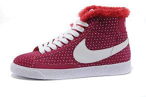 зимние кроссовки женские Nike Air Max бордовые, фото 2