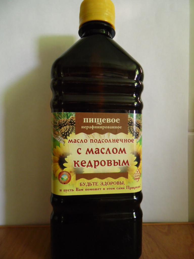 Масло кедровое с подсолнечным 500мл