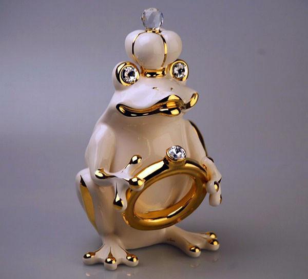 Статуэтка Лягушка-царевна. Керамика, ручная работа, Италия