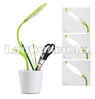 Настольная лампа + подстаканник LED аккумуляторная сенсорная 3 режима в форме цветка